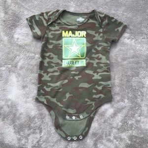 One Pieces - Major Cutie Army Onsie Snap Green Camo Short Sleev